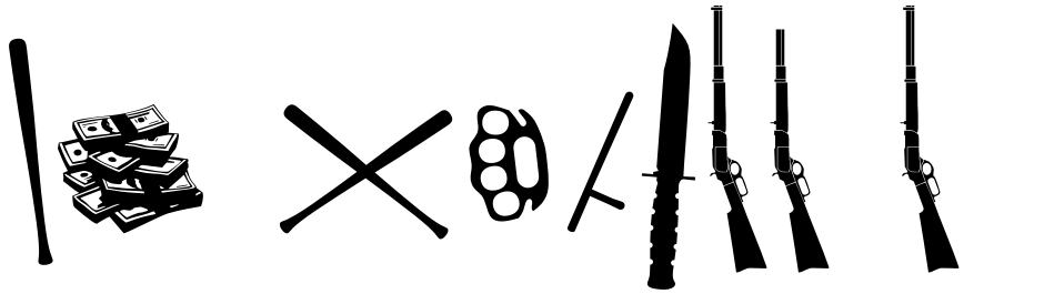 Click to view  FT Weapon Of Choice font, character set and sample text