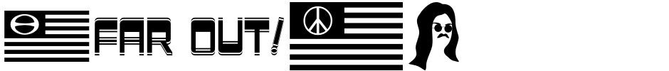 Click to view  Sixties Symbols JNL font, character set and sample text