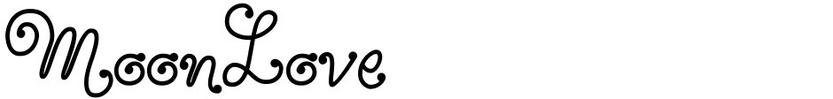 Click to view  MoonLove font, character set and sample text