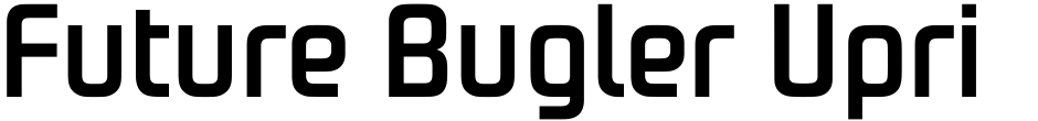 Click to view  Future Bugler Upright font, character set and sample text