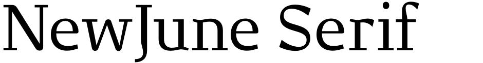 Click to view  NewJune Serif font, character set and sample text