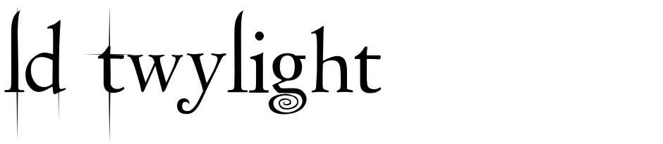 Click to view  LD Twylight font, character set and sample text