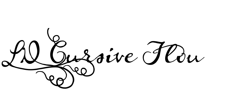Click to view  LD Cursive Flourish font, character set and sample text
