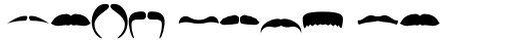 FT Bronson Mustache Dingbats sample