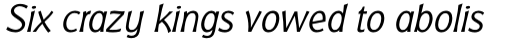 Badger Pro Light Italic sample