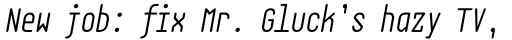 EB Base Mono Book Italic sample