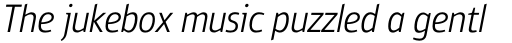 PF Bulletin Sans Pro Light Italic sample