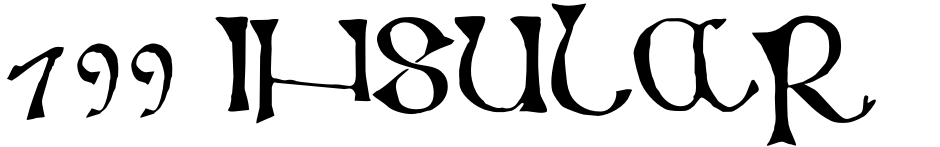 Click to view  799 Insular font, character set and sample text