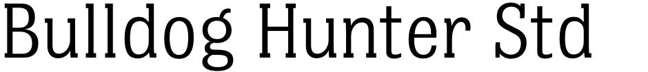 Click to view  Bulldog Hunter Std font, character set and sample text