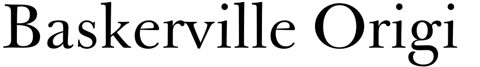 Click to view  Baskerville Original Pro font, character set and sample text