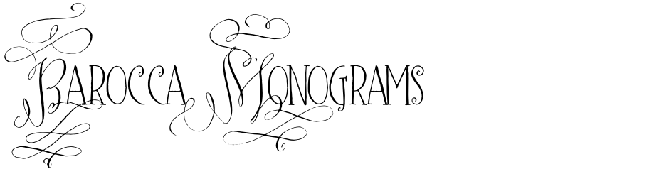 Click to view  Barocca Monograms font, character set and sample text