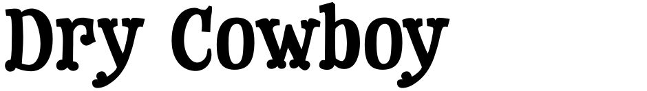 Click to view  Dry Cowboy font, character set and sample text