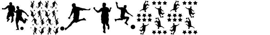 Click to view  Football World font, character set and sample text