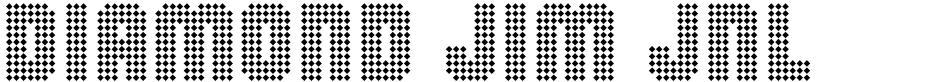 Click to view  Diamond Jim JNL font, character set and sample text