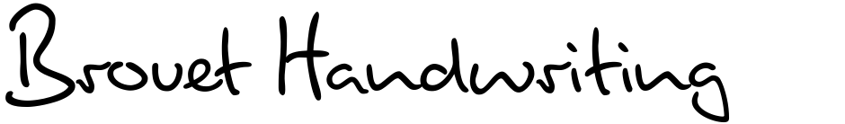 Click to view  Brouet Handwriting font, character set and sample text