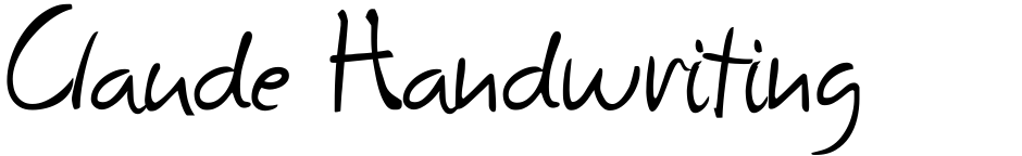 Click to view  Claude Handwriting font, character set and sample text