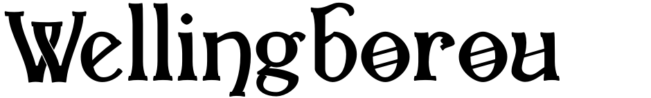 Click to view  Wellingborough font, character set and sample text