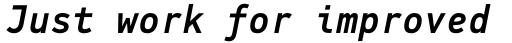 PF DIN Mono Medium Italic sample