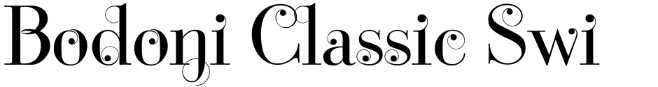 Click to view  Bodoni Classic Swing font, character set and sample text
