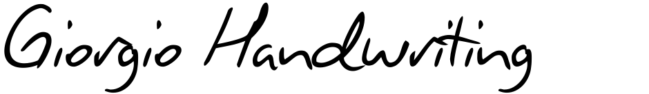 Click to view  Giorgio Handwriting font, character set and sample text
