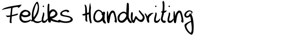 Click to view  Feliks Handwriting font, character set and sample text