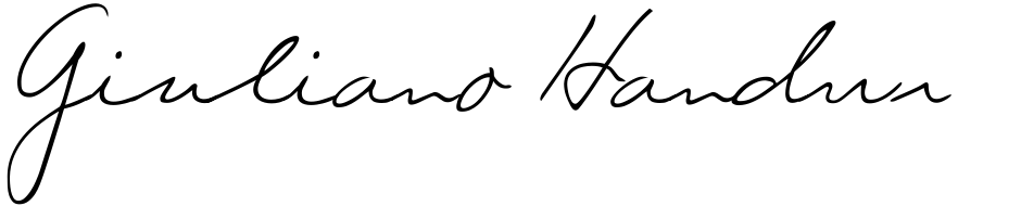 Click to view  Giuliano Handwriting font, character set and sample text