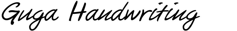 Click to view  Guga Handwriting font, character set and sample text