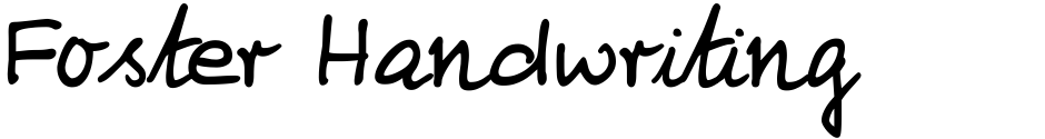 Click to view  Foster Handwriting font, character set and sample text
