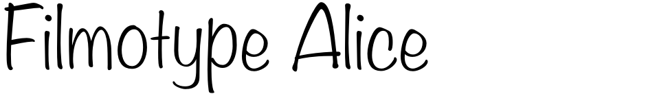 Click to view  Filmotype Alice font, character set and sample text