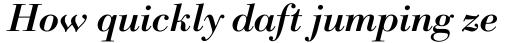 Bodoni Classico Bold Italic sample