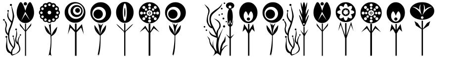 Click to view  Fontazia AquaFlorium font, character set and sample text