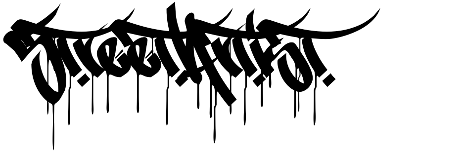 Click to view  StreetArtist font, character set and sample text
