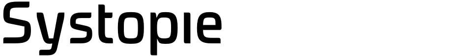 Click to view  Systopie font, character set and sample text