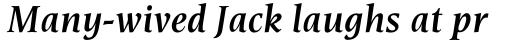 Esperanto Semi Bold Italic sample