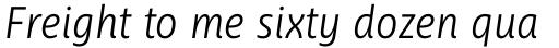 Ayita Pro Light Italic sample