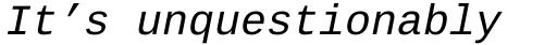Ascender Sans Mono WGL Italic sample