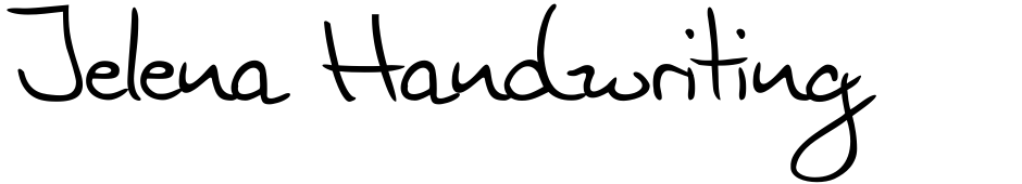 Click to view  Jelena Handwriting font, character set and sample text