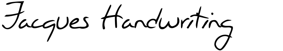 Click to view  Jacques Handwriting font, character set and sample text