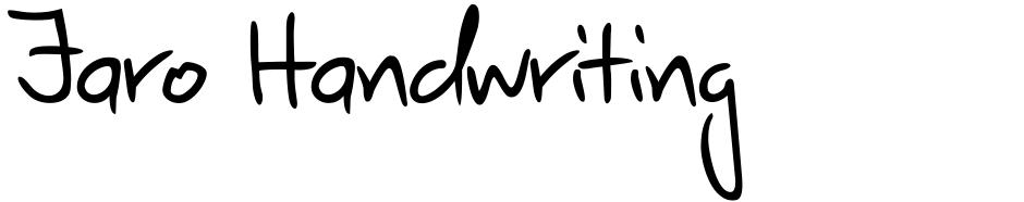Click to view  Jaro Handwriting font, character set and sample text