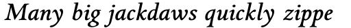 Griffo Classico Bold Italic sample