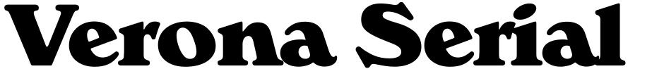 Click to view  Verona Serial font, character set and sample text
