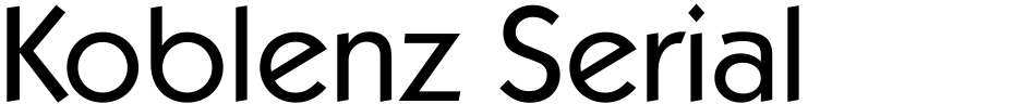 Click to view  Koblenz Serial font, character set and sample text