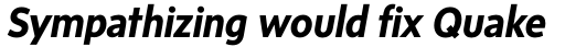 Sense Bold Italic sample