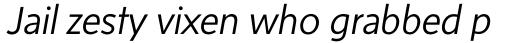 Sense Light Italic sample