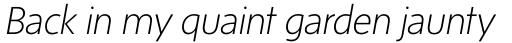 Sense ExtraLight Italic sample