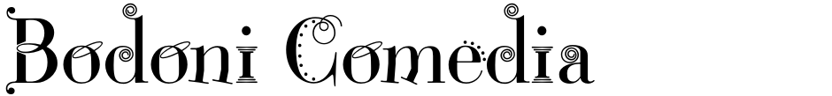 Click to view  Bodoni Comedia font, character set and sample text