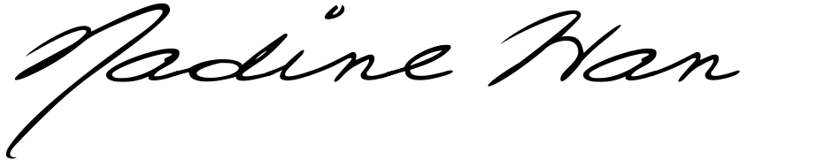 Click to view  Nadine Handwriting font, character set and sample text