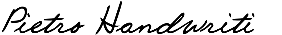 Click to view  Pietro Handwriting font, character set and sample text