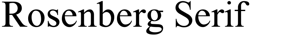 Click to view  Rosenberg Serif MF font, character set and sample text