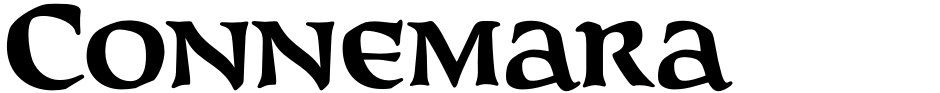 Click to view  Connemara Old Style font, character set and sample text